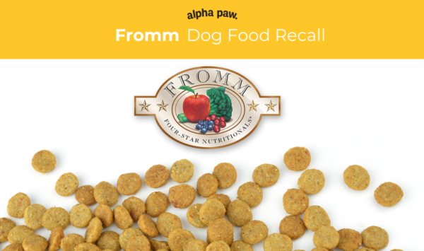 Dog Food Recall Alert Fromm Four Star Shredded Entrée Canned Dog Food