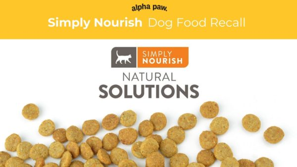 Recall Alert Simply Nourish by Wet Noses Natural Dog Treat Company